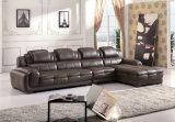 Sofá de cuero de la alta calidad, L sofá de la dimensión de una variable fijado (882)