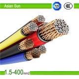 O PVC isolou o fio do cabo elétrico do uso da HOME do núcleo do tanoeiro