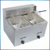 Doppia friggitrice del gas dell'acciaio inossidabile del serbatoio per la cucina