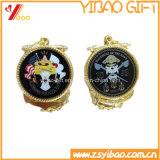 Kundenspezifisches Gold überzogen mit doppelseitiges Drucken-Firmenzeichen-Andenken-Medaillen (YB-LY-C-29)