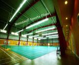 O Badminton do PVC ostenta o revestimento de superfície