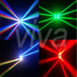 DMX 8PCS10W weißes LED bewegliches Hauptträger-Licht des Armkreuz-