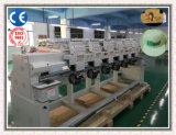 6 automatische Shirt-/Hysteresen-Hut-Stickerei-Hauptmaschine mit Hunderten geben Stickerei-Entwürfe frei