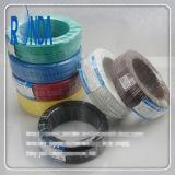 Agregado familiar flexível isolado PVC que constrói o fio de cobre elétrico