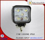 Lámpara del trabajo del punto / de la inundación LED de 5PCS * 3W Epistar 1000lm