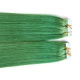 Bande indienne de trame de la prolonge 12-30inch de cheveu de peau d'unité centrale dans la prolonge droite soyeuse de cheveu de bande d'unité centrale de la prolonge 20PCS/Set Remy de cheveux humains