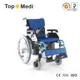Sedia a rotelle facile di energia elettrica di piegatura di Topmedi per i handicappati Handicapped