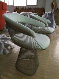 Cadeira inoxidável contínua estofada do fio de aço