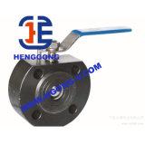 Vávula de bola flotante de la oblea del acero inoxidable del borde de DIN/API