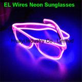 Gafas de sol de neón electroluminiscentes de la lente del claro del estilo