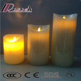 White Romantic LED Simulation Controle Remoto Candle Lamp for Restaurant