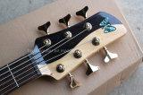 Guitare basse électrique de musique de Hanhai/6 chaînes de caractères avec le matériel d'or