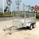 판매 (SWT-TT85)를 위한 4개의 바퀴 세로로 연결되는 차축 덤프 트레일러