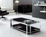 Tabela de chá de vidro moderna/tabela da mesa de centro/aço inoxidável