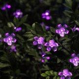 Hermosa Flores solares Chritmas decoración de vacaciones luces de cadena