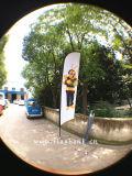 bandierina di spiaggia di alluminio di stampa di Digitahi di mostra di 2.8m/bandierina della piuma