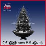 공장 직접 실내 훈장 LED 빛 눈이 내리는 크리스마스 나무
