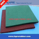 Recycled Playground Area Rubber Tiles / Square Interlock Rubber Tile