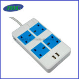 het UK Standard Socket met 4 het UK Outlets, 2 Havens USB