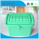 90L Colorful Plastic Storage Container Box com Wheels