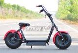 La ville la plus neuve conduisant la moto électrique pour le transport personnel