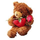 Brinquedo macio do luxuoso do fantoche do animal de estimação da pele do animal enchido do urso da peluche