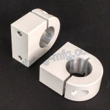 Aluminiumstrangpresßling CNC-maschinell bearbeitende Aluminiumschelle mit Puder-überzogenem Weiß