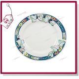'' piatto di ceramica 8 con l'orlo ed il disegno di loto