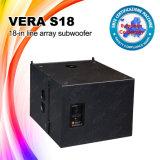Altofalante baixo de Vera S18 sistema de altofalante de um PA de 18 polegadas