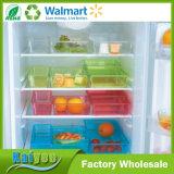Organizador transparente Multifunctional do refrigerador da cozinha com tamanho e cor diferentes