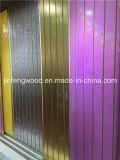 MDF UV de Slatwall da melamina da pintura do PVC/