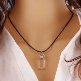 Collar de cadena del collar de las mujeres de la manera de la joyería de la plata del oro de la manera de la aleación de los cristales curativos de piedra naturales pendientes del collar
