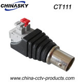 "Adaptador del CCTV BNC de la hembra con la terminal ""Press-Fit"" de Screwless (CT111)"