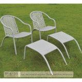 オットマンが付いている新しく総合的な藤の全天候用椅子