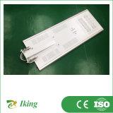 Migliore prezzo 50W garantito qualità tutto in un indicatore luminoso di via solare Integrated del LED con la batteria del ferro del litio