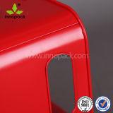 Seau à glace galvanisé de bidon en métal de grand dos rouge avec le refroidisseur de traitement/bière