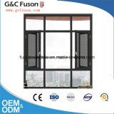 Surtidores dobles de aluminio de la ventana del marco del vidrio Tempered de la nueva rotura termal del diseño