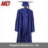 Bleu marine brillant de robe de chapeau de la graduation des enfants