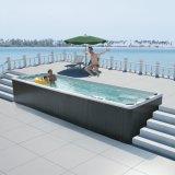 A pessoa 10 promoveu a grande banheira ao ar livre do Jacuzzi dos TERMAS
