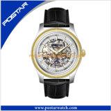 Heiße Produkt-Mann-Uhr Mechancial Uhr mit echtes Leder-Band