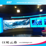 Bestes Quality P4 High Contrast Indoor Curved LED Display Screen für Fixed Installation