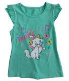 Roupa do bebê da menina de flor da forma no t-shirt dos miúdos das crianças com Printingsgt-079