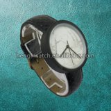Nuevo reloj Hl-Bg-046 del cuarzo del acero inoxidable de la manera de la dial del mármol del estilo