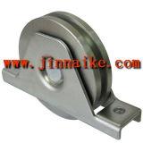 Polea voladiza de la puerta del cinc de plata con el corchete exterior (solo surco del rodamiento, de U)
