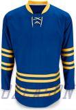 O poliéster 100% da venda por atacado projeta a camisola do hóquei dos EUA da equipe