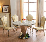 Modernes Dining Table mit Marble Top Steel Leg