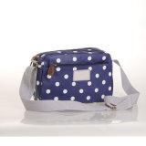 (99032-1) L'onde blanche de toile imperméable à l'eau pointille des sacs à main de sacs d'épaule