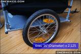 2つの車輪の電気自転車の庭のトレーラー