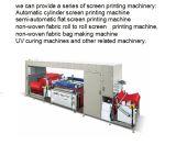 자동적인 짠것이 아닌 직물 4 색깔 스크린 인쇄 기계를 구르는 롤