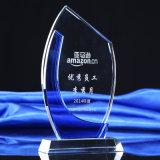 Горячая стеклянная кристаллический металлическая пластинка высокое Quliaty трофея с звездой